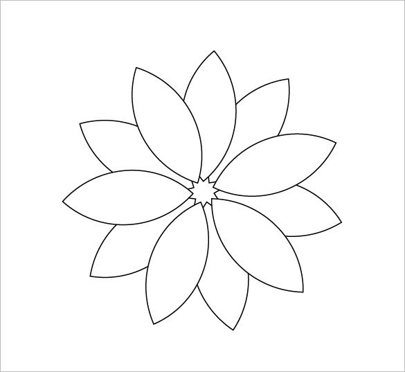 It's just an image of Remarkable Printable Flower Petal Template Pattern