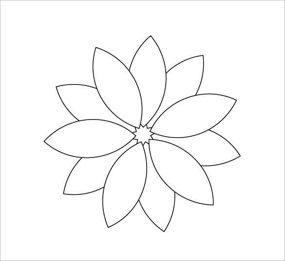 Flower Petals Line Drawing : Printable flower petal templates free download