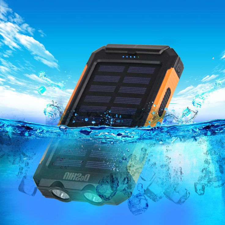 POWER BANK - WATERPROOF WITH COMPASS - 2 LED BRIGHT LIGHT 2 USB PORTS CHARGING