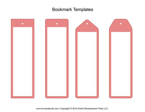 Best  Bookmark Template Ideas Only On   Printable
