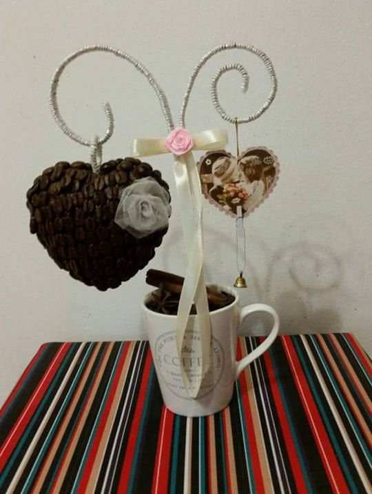 "Topiary Tree ""Coffee Cantata"", Coffe Tree, Caffe Decor, Home Decor, Wedding Favor, Gift Topiary, Candy Topiary"