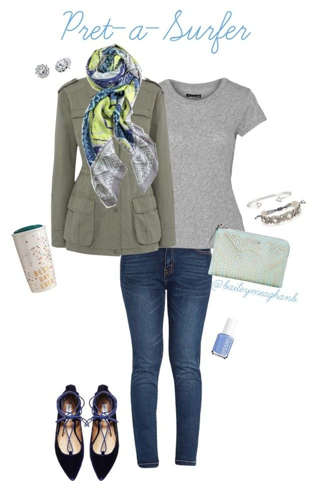 """""""Essie Inspired: Pret-a-Surfer"""" by baileymeaghanb on Polyvore featuring rag & bone, Linea Weekend, Stella & Dot, Essie and Steve Madden"""