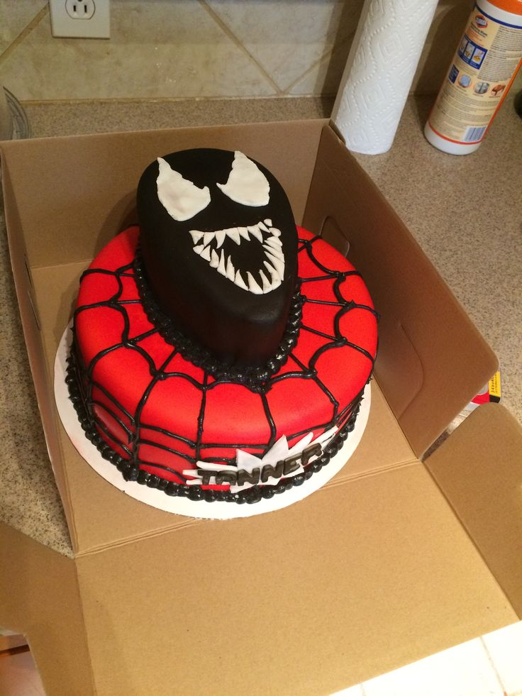 Black spiderman cakes - photo#46