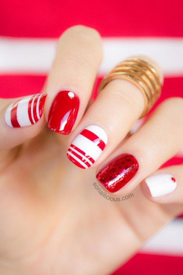 Cool Color Block Nail Designs, http://hative.com/cool-color-block-nail-designs/,