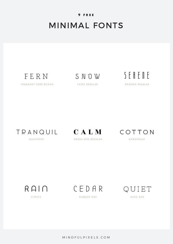 9 kostenlose minimale Schriftarten – Mindful Pixels