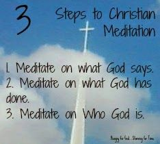 Does meditation have a place in a believer's life? (Double click on the image to read more.)