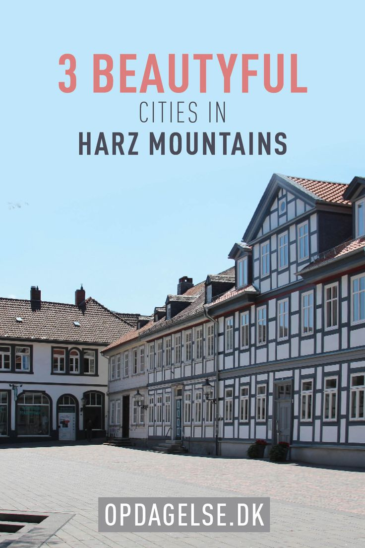 Beautyful cities in Harz Mountains