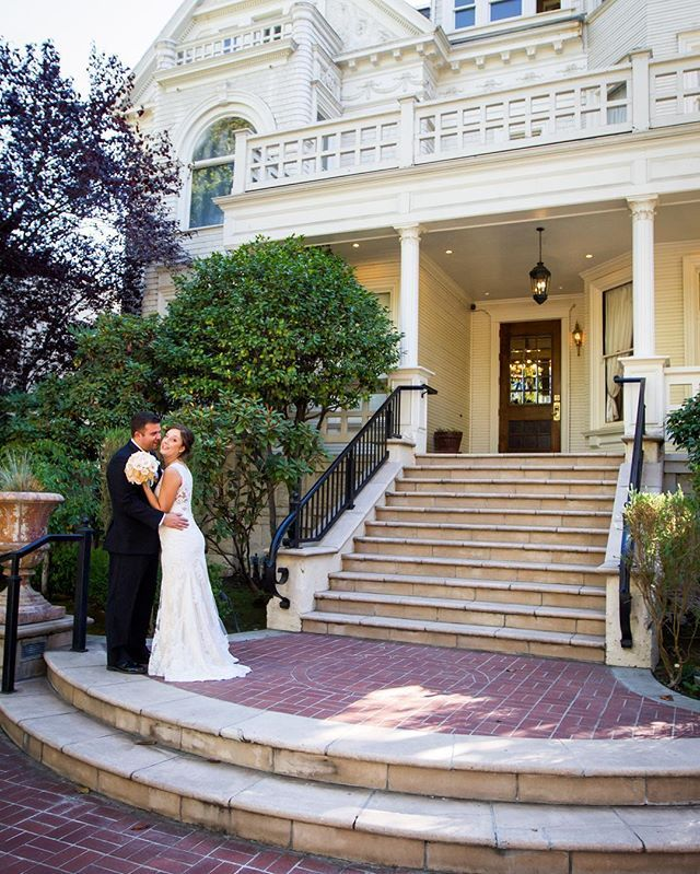 What better way to capture your wedding at the Sterling Hotel then on the the historical steps! They're technically considered a part of Sacramento history..