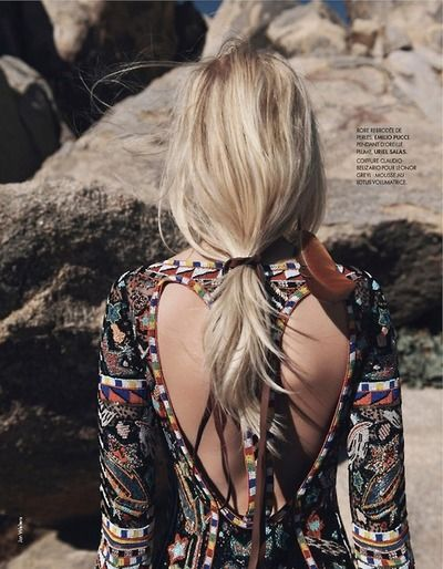 Ginta Lapina by Jan Welters for Elle France 14th February 2014