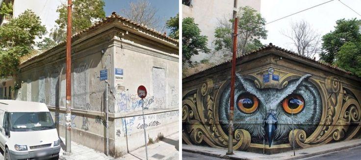 Predtým a potom: Pouliční umelci premenili schátrané budovy na klenoty miest