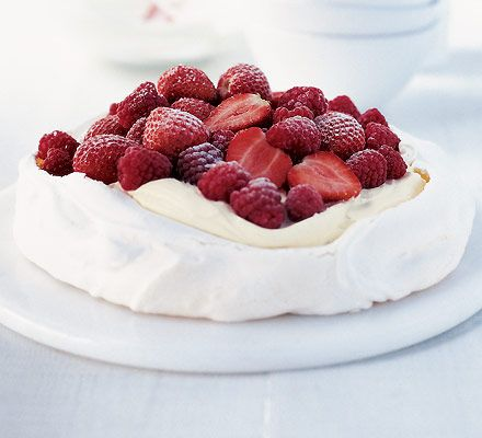 Pavlova: An Australian classic (from Perth, in fact) - this pavlova is a marriage of meringue and fresh, juicy berries...