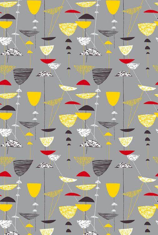 textil, design lucienne day 1951, linne/bomull, malmö                                                                                                                                                      More
