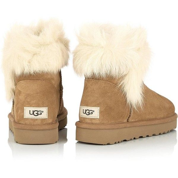 29ebdb59e0b Ugg Milla Shearling Ankle Boots ($230) ❤ liked on Polyvore ...