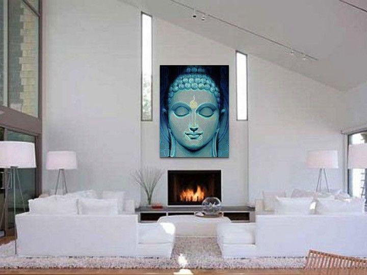 Buddha Painting. Home decor art. Yoga Wall Hanging. Buddha Wall Art. Y – Artikrti