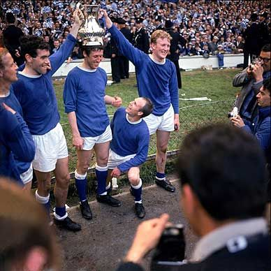 14th May 1966. Everton celebrate winning the FA Cup having come from two goals down against Sheffield Wednesday to win 3-2.