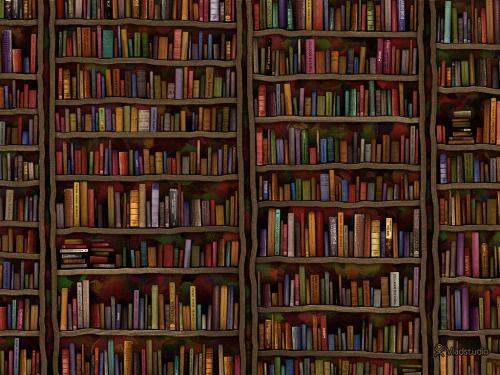 Me encanta pasear y buscar libros en una biblioteca (ilustración de Vlad Studio)