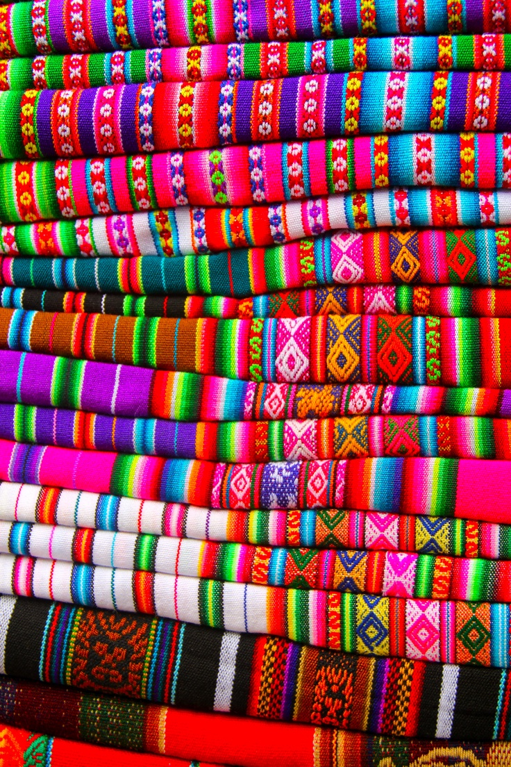 Peruvian textile - looooove the colors