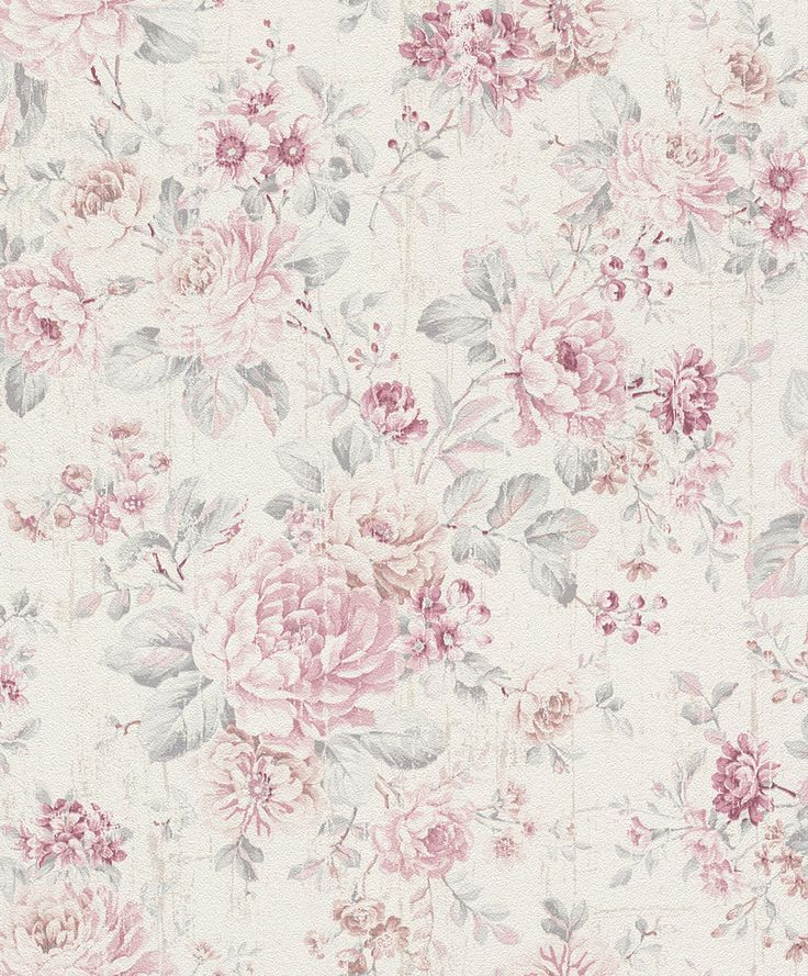 Vliestapete Rasch Blumen Vintage Cremeweiss Rosa 516029 Verena Krick Papir