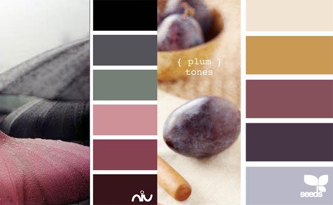 murdume-uyumlu-renkler// Gri, krem ve bal rengi bir odada mürdümü şık şekilde tamamlayacak renklerdir. Sarı, turuncu, cam göbeği gibi göz alıcı renklerle kolayca bir araya gelir.