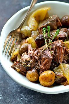 The most tender crockpot beef EVER