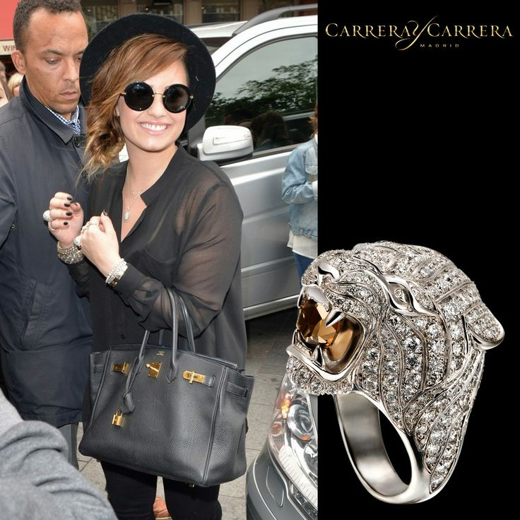 #DemiLovato was seen out and about recently in London wearing #carreraycarrera iconic Tiger ring #jewelry #jewels #jewel #fashion #gems #gem #gemstone #bling #stones #stone #trendy #accessories #love #style #fashionista #accessory #instajewelry #stylish #jewelrygram #fashionjewelry