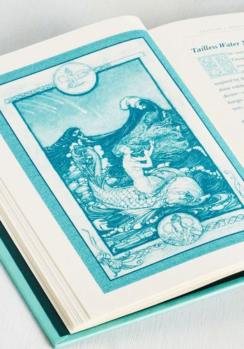 Have you ever dove into a beach read as magical as this? A beautiful turquoise hardback by Skye Alexander, this guide - complete with a table of contents and an index - will gift you with all the enchanting knowledge you've ever wanted on mermaids via elegant blue text and lovely illustrations.