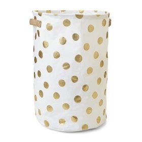 Collapsible Hamper - Gold Spots