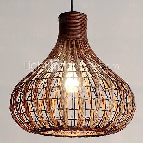 Lounge room   60W Comtemporary Wood Pendant Light Natural Design