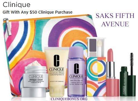 Clinique GWP @ Saks.com. Qualifier: $50. Promo code: CLINIQ84