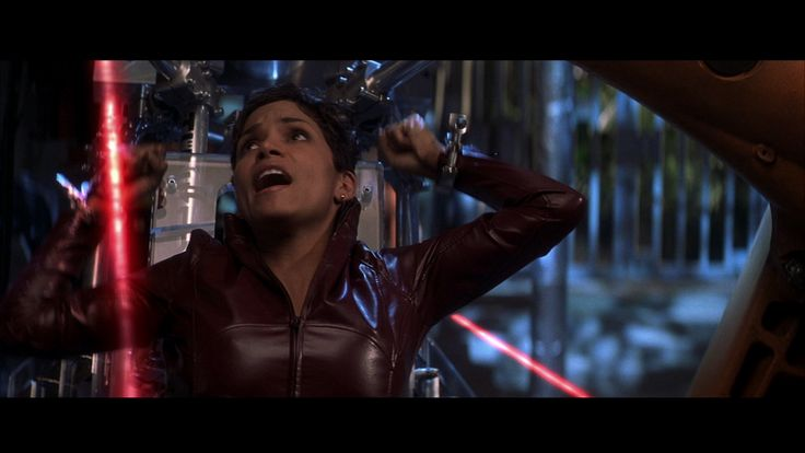 Halle Berry Handcuffed In Red Leather Catsuit Halle