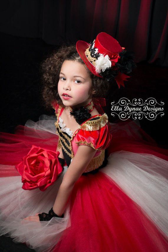 Traje de circo Tutu vestido anillo amante en rojo por EllaDynae