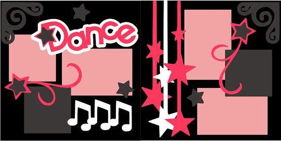 Dance 2-page 12x12 do-it-yourself scrapbook kit via Etsy