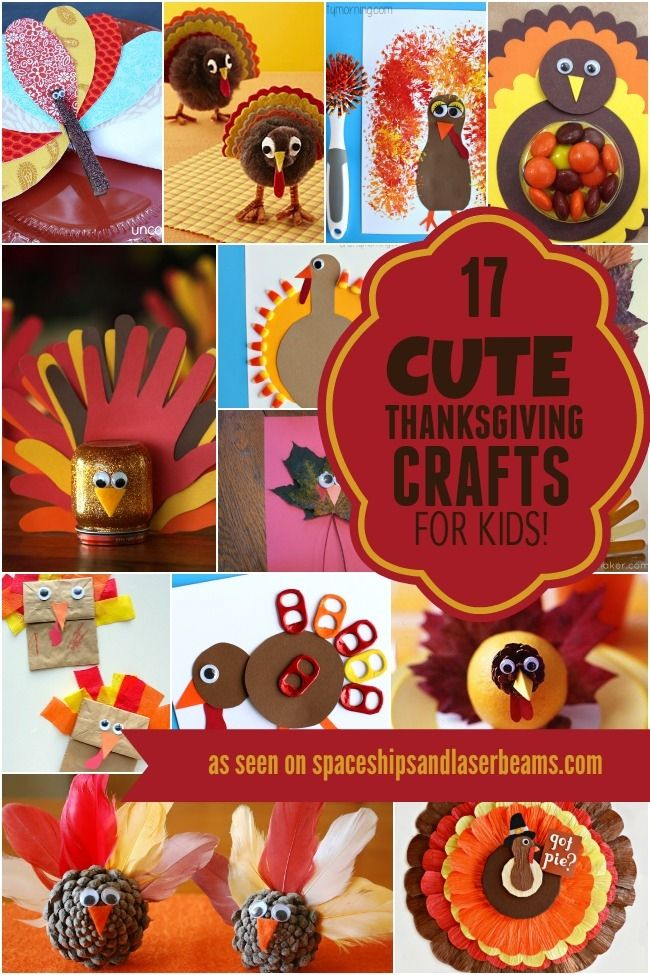 17 Cute Thanksgiving Crafts for Kids