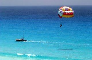 parasailing...