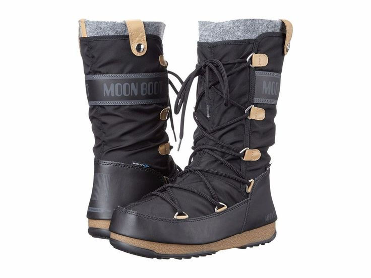 New Womens Tecnica Moon Boot Monaco Felt Waterproof Winter Snow Boots Size  6 in Clothing, Shoes & Accessories, Women's Shoes, Boots