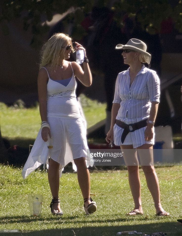 Chelsy Davy & Zara Phillips Attend The Rundle Cup Day At Tidworth Polo Club.