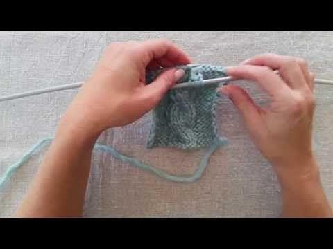 Lär dig att sticka flätstickning - YouTube