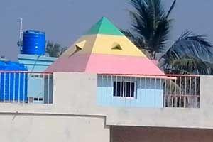 Sree Ganesh Pyramid Meditation Center http://pyramidseverywhere.org/pyramids-directory/telangana/karimnagar-district
