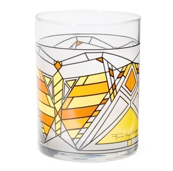 Butterfly Tumbler Gold - 수잔 로렌스 다나 하우스의 창문 디테일 디자인 패턴을 적용한 복고적인 텀블러