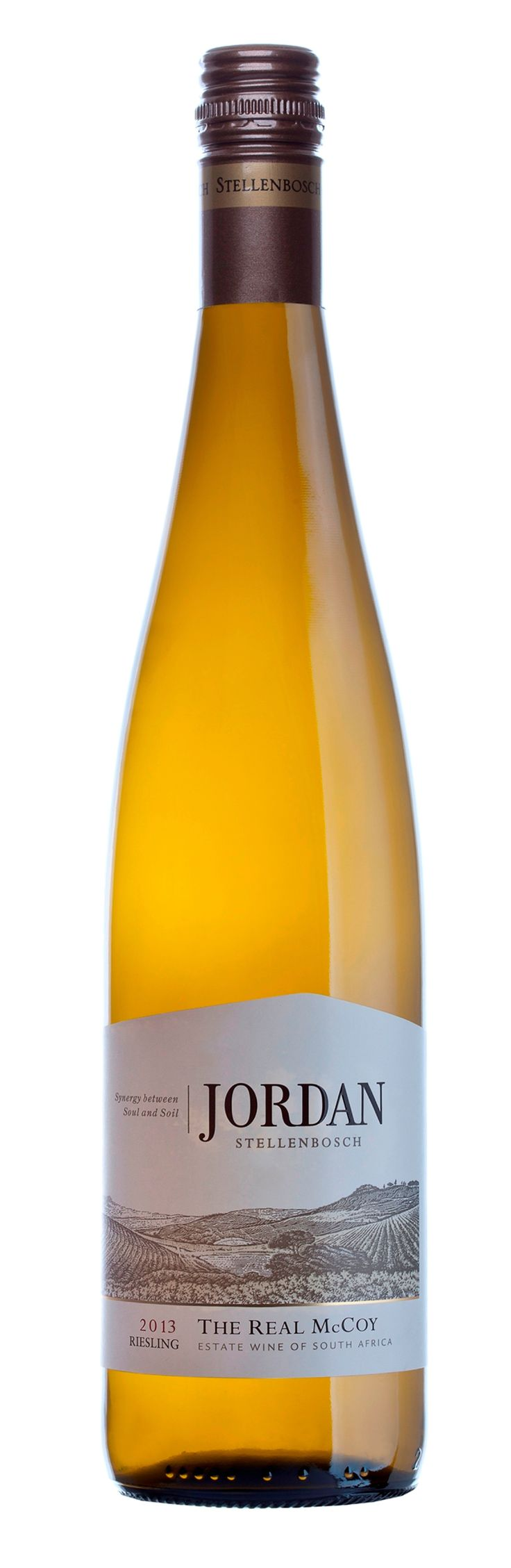 100% Riesling - The Real McCoy - Intense lemon-lime flavours.  A crisp fruitiness makes it a superb partner with spicy food.  Hints of spiciness add to its intrigue.
