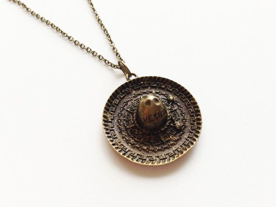 MEXICAN HAT Necklace Mexican Hat Jewelry Mexican Hat Gift