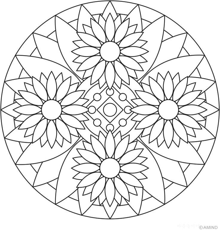 mandala coloring pages of sunday - photo#17