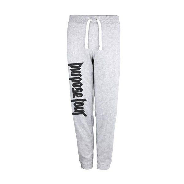 Grey Purpose Tour Sweatpants as seen on Justin Bieber Jog Pants. (14.145 CRC) ❤ liked on Polyvore featuring activewear, activewear pants, grey jogger sweatpants, grey sweatpants, grey sweat pants, gray sweat pants and jogger sweatpants