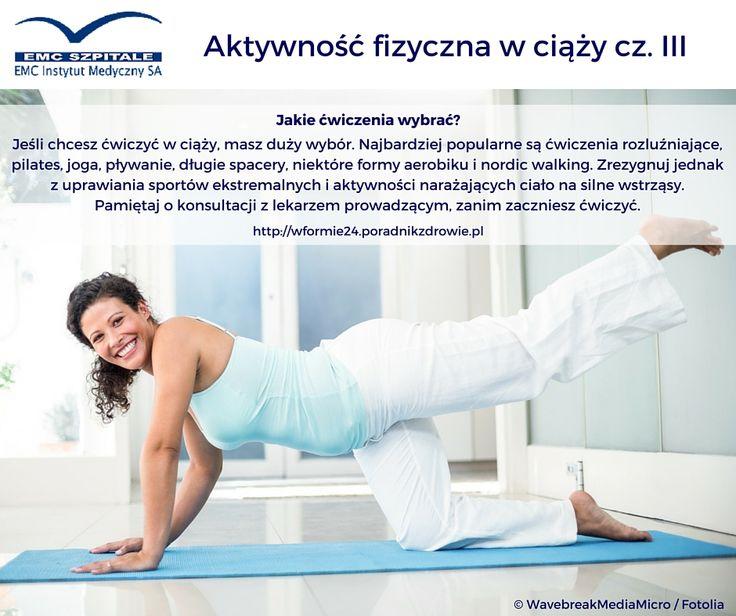 Jaki rodzaj aktywności fizycznej wybrać w ciąży? #ciaza #pregnant #pregnancy #wciazy #sport #fitnes #fit #ruch #zdrowie #dbajosiebie #dbajozdrowie #dziecko #medycyna #emc