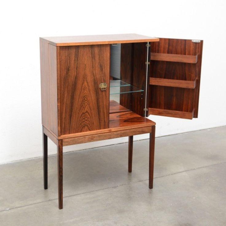 1950s Danish Modern Compact Rosewood Bar Cabinet - Henning Korch   simplymod - Mid Century Modern & Danish Modern Furniture / Design