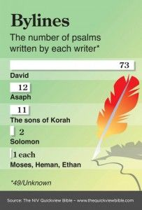 Who wrote the Psalms? From the Illustrated Online Bible Study: www.bibleversesabout.org/bible/