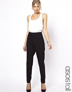 Image 1 of ASOS TALL Pants With High Waist