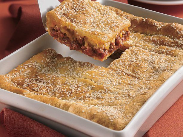 Sloppy Joe Squares...with cheddar cheese and buttery crescent rolls.  Yum!