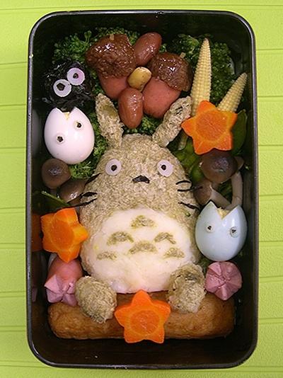 Totoro bentou (Japanese style lunch box), Japan so cute totoro ^.^