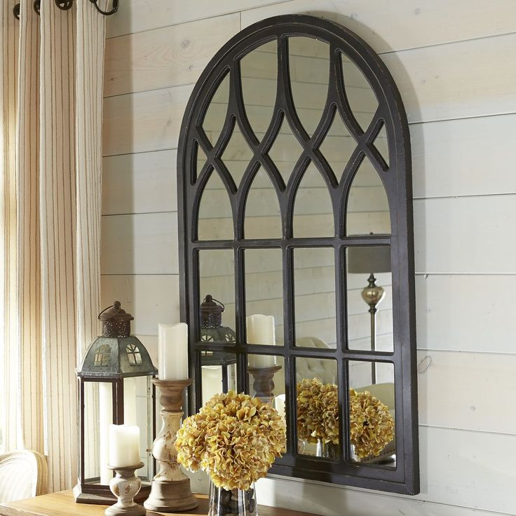 Black Washed Window Mirror | Pier 1 Imports